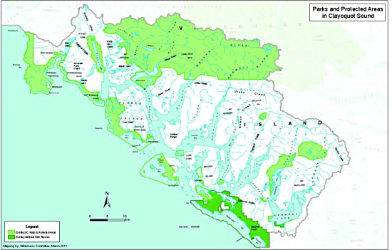 Current parks in Clayoquot Sound