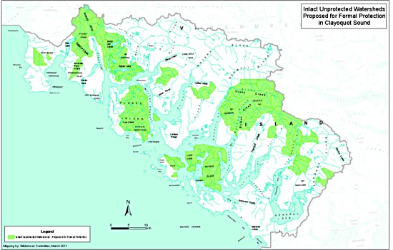 Clayoquot intact unprotected areas