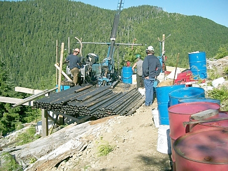 Selkirk Metals exploratory drilling on Catface Mountain, Clayoquot Sound