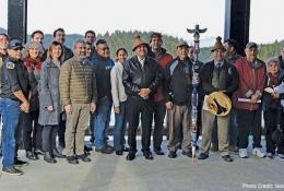 Ahousaht announcement group photo2